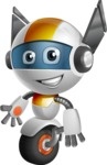 robot vector cartoon character design - OWAF - Normal