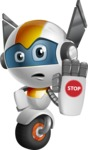 robot vector cartoon character design - OWAF - Stop