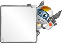 robot vector cartoon character design - OWAF - Presentation 2