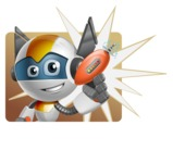 robot vector cartoon character design - OWAF - Shape1
