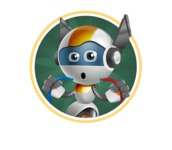 robot vector cartoon character design - OWAF - Shape2