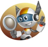 robot vector cartoon character design - OWAF - Shape4