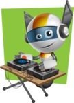 robot vector cartoon character design - OWAF - Shape6