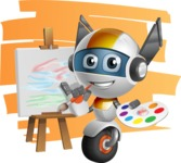 robot vector cartoon character design - OWAF - Shape7