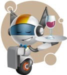 robot vector cartoon character design - OWAF - Shape8