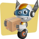 robot vector cartoon character design - OWAF - Shape11