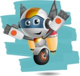 robot vector cartoon character design - OWAF - Shape12