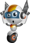 robot vector cartoon character design - OWAF - Confused