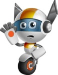 robot vector cartoon character design - OWAF - Goodbye