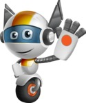 robot vector cartoon character design - OWAF - Hello