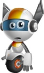 robot vector cartoon character design - OWAF - Sad