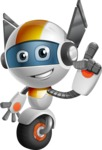 robot vector cartoon character design - OWAF - Attention