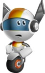 robot vector cartoon character design - OWAF - Roll Eyes