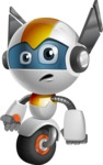 robot vector cartoon character design - OWAF - Angry