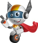 robot vector cartoon character design - OWAF - Super robot vector cartoon character design