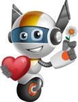 robot vector cartoon character design - OWAF - Love