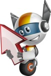 robot vector cartoon character design - OWAF - Arrow