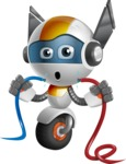 robot vector cartoon character design - OWAF - Cable