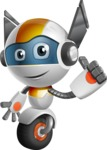 robot vector cartoon character design - OWAF - Thumbs Up