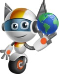 robot vector cartoon character design - OWAF - Earth