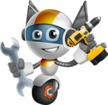 robot vector cartoon character design - OWAF - Workman 1