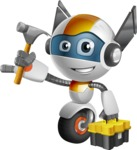 robot vector cartoon character design - OWAF - Workman 2