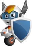 robot vector cartoon character design - OWAF - Security 1