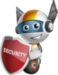 robot vector cartoon character design - OWAF - Security 2