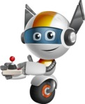 robot vector cartoon character design - OWAF - Joystick