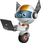 robot vector cartoon character design - OWAF - Laptop 1