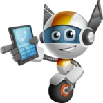 robot vector cartoon character design - OWAF - Phone