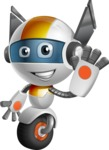 robot vector cartoon character design - OWAF - Wave