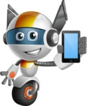 robot vector cartoon character design - OWAF - iPhone
