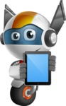 robot vector cartoon character design - OWAF - iPad 1
