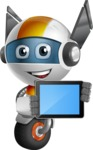 robot vector cartoon character design - OWAF - iPad 2