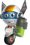 robot vector cartoon character design - OWAF - Battery