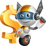 robot vector cartoon character design - OWAF - Dollar