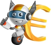 robot vector cartoon character design - OWAF - Euro