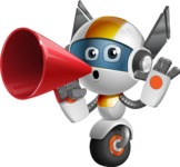 robot vector cartoon character design - OWAF - Loudspeaker