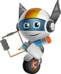 robot vector cartoon character design - OWAF - Notepad