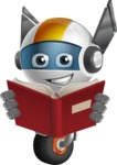 robot vector cartoon character design - OWAF - Book