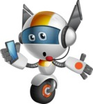 robot vector cartoon character design - OWAF - Support