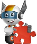 robot vector cartoon character design - OWAF - Puzzle