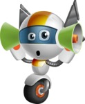robot vector cartoon character design - OWAF - Listen