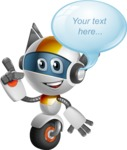 robot vector cartoon character design - OWAF - Bubble