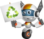 robot vector cartoon character design - OWAF - Recycling
