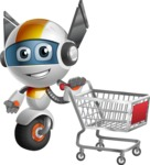 robot vector cartoon character design - OWAF - Shopping Cart