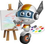 robot vector cartoon character design - OWAF - Artist
