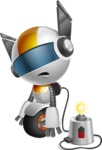 robot vector cartoon character design - OWAF - Charging