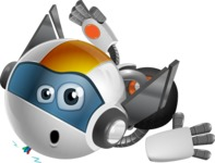 robot vector cartoon character design - OWAF - Under Construction